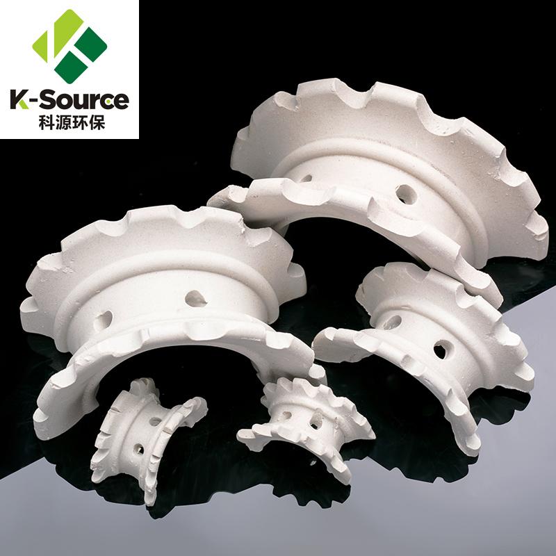 Ceramic saddle ring